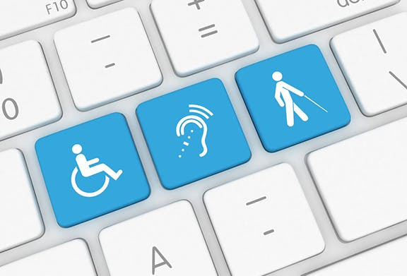 Keyboard with handicap symbol